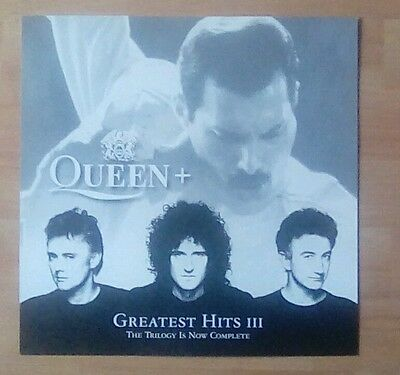 "QUEEN -Promotional 12"" x 12"" Card (Flat) Greatest Hits 3 (ideal for framing)"