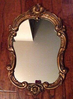 Wood Vintage Hand Carved Mirror -  Wooden Frame-Baroque  Style