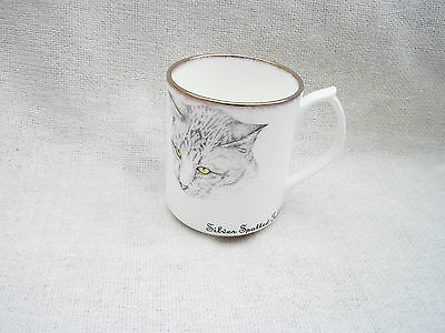 J&s Chown Bone China Mug Cup *silver Spotted Tabby* Cat Lover ~ Great Gift