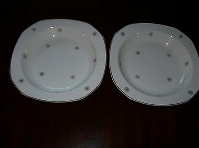 """Alfred Meakin Midnight Star Large 8.1/2"""" Soup Plates"""