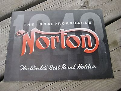 Vintage 1948 Norton Motorcycle Sales Brochure / Authentic & RARE!