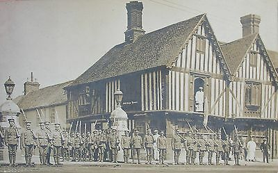 Soldiers On Guard At The Old Siege House Colchester Essex Early Rp Pc