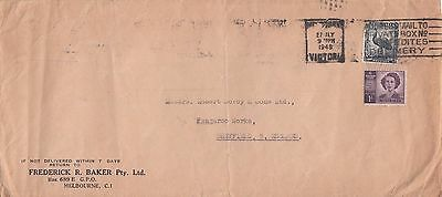 f 1469 Melbourne 1948 cover UK;  6d 1/2d rate; up to 3oz letter!