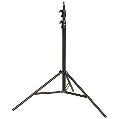 8' Steel Light Stand with 3 Risers and Spring Cushion