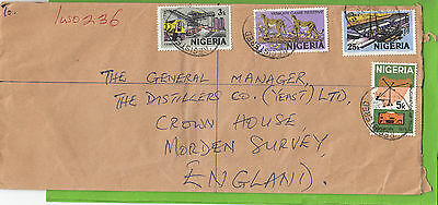 J 241 Iwo registered 1975 cover to UK; 4 stamps; 43k rate