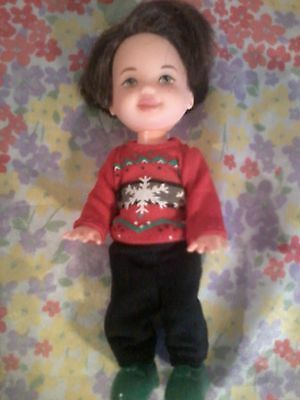 Barbie baby Kelly TOMMY Ryan Red Winter SWEATER SHIRT Black PANTS SHOES Clothes