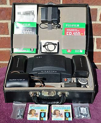 Polaroid 180 Professional Manual Land Camera Complete Kit w/ Case, Film, Manuals