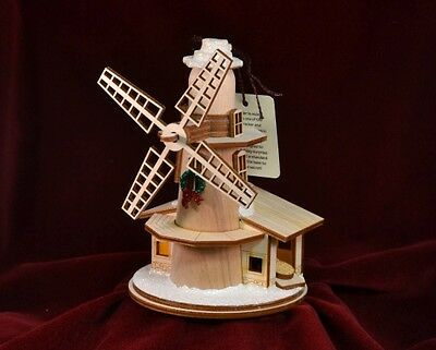 Ginger Cottages Windmill Christmas Ornament Made In Usa Gc116