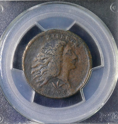 1793 1C Flowing Hair Large Cent Wreath Tooled PCGS F Details 30592610