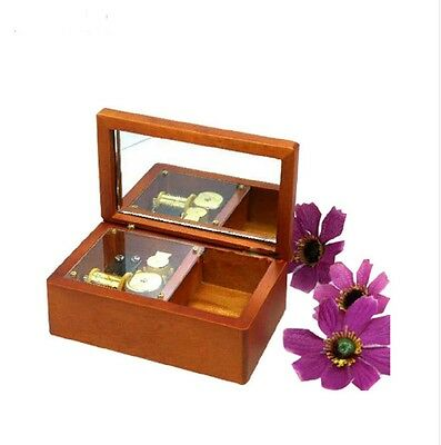 Wooden Rectangle Mirror jewelry Music Box : Howl's Moving Castle
