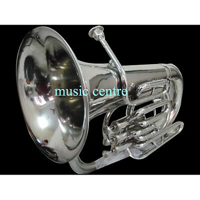 Euphonium 4 Valve Chrome Polish With Free Case & Mouthpiece Made Of Pure Brand