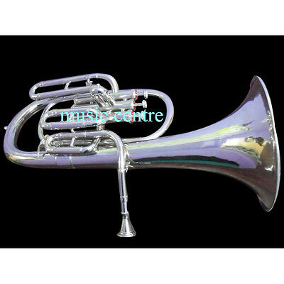 Alto Horn Eb Pitch Made Of Pure Brass Chrome Polish Made Of Pure Brass With Free
