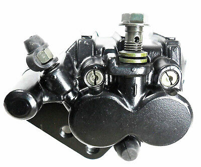 FRONT DISC BRAKE CALIPER BLACK for SACHS MADASS SCOOTER (Includes brake pads)