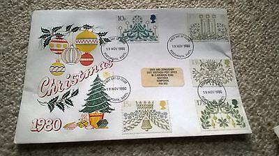 First Day Cover Stamps, Christmas 1980