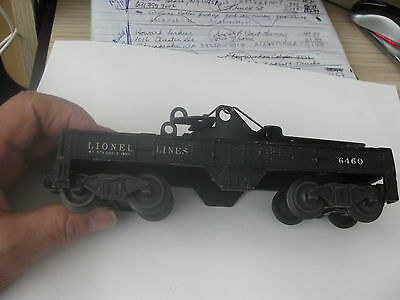 Lionel 6460 crane frame & trucks sold as pictured,  please check my  listings