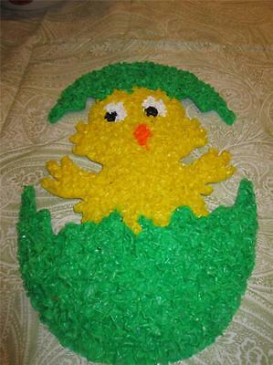 EASTER CHICK EGG MELTED PLASTIC POPCORN  Wall Window Decoration HOLIDAY new
