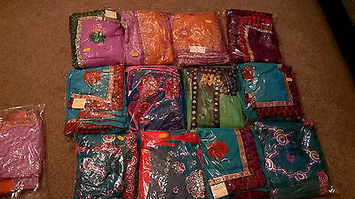 Designer sarees with matching blouse sell for Diwali & Navratri for 6-12 yr girl