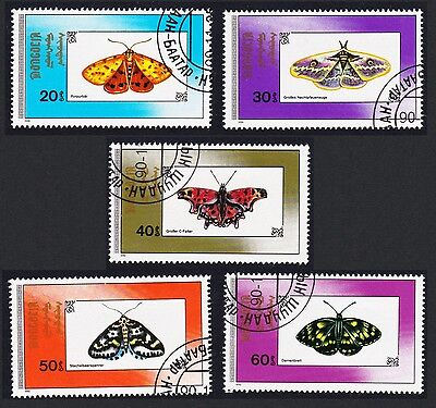 Mongolia Butterflies and Moths 5 stamps