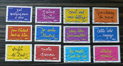 France Stamps Full serie Words of Ben 2011 Used
