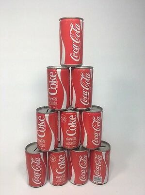 Vintage Coca Cola Steel Can 12 FL OZ Bank 1980 Olympic Edition-Lot of 10!