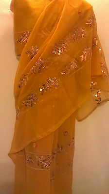 Children's Bollywood designer sarees with matching blouse for 3-5 years old girl