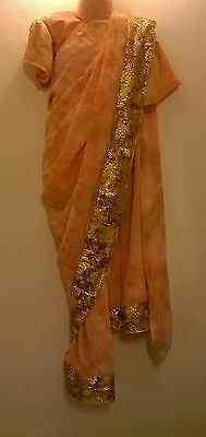Children's Bollywood designer sarees with matching blouse for 6-9 years old girl