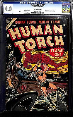 HUMAN TORCH #37 Golden Age Timely Captain America Submariner CGC 4.0