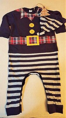 Next all in one two piece Christmas Dungaree-12-18 months-New