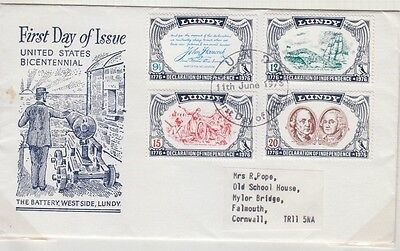 Lundy 1976 Declaration Of Us Independence Sent To Cornwall Fdc