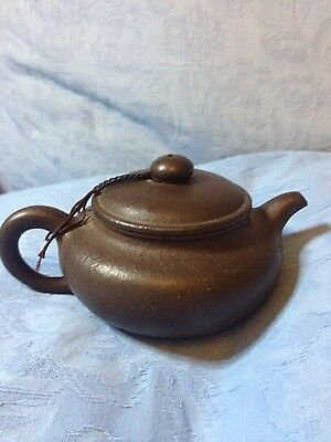 Chinese brown earthenware (?) teapot?