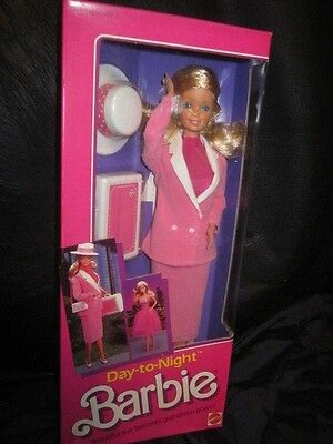 Pretty In Pink Day To Night Barbie Nrfb!!