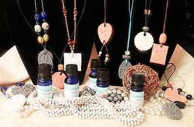 Aromatherapy Necklace Essential Oil Perfume Pendant Clay Diffuser Handcrafted
