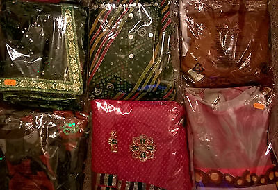 Designer sarees with matching blouse sell for Diwali & Navratri for 11-15 y girl