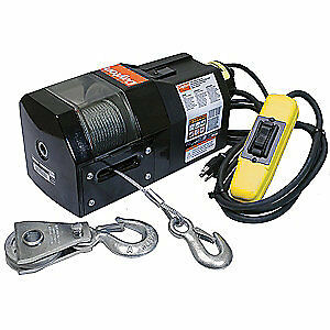 DAYTON Electric Winch,1/2HP,115VAC, 3VJ63