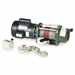 DAYTON Electric Winch,3/4HP,115/230VAC, 3VJ72