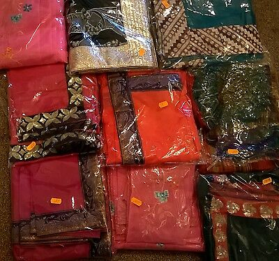 Designer sarees with matching blouse sell for Diwali & Navratri for 6-11 y. girl