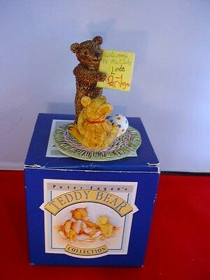 Spelling Lesson Ted CC956 Peter Fagan Colour Box Teddy Bear Resin Figurine Boxed