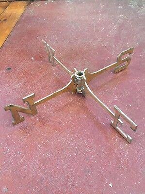 """VINTAGE BRASS WEATHERVANE PARTS DIRECTIONAL 18"""" Wide 3"""" NORTH EAST SOUTH WEST"""