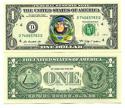 TOY STORY BUZZ L'ECLAIR VRAI BILLET DOLLAR US! COLLECTION Disney Pixar LIGHTYEAR
