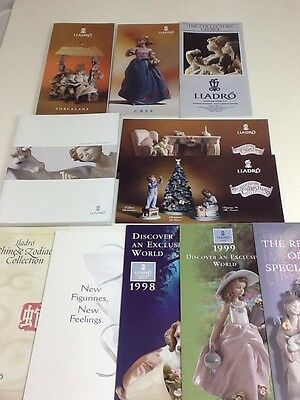 Quanity of Lladro  Catalogue and Leaflets 1991-2002 Joblot