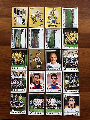 Euro 92 Panini Stickers Lot 50 Different New Whith Original Back