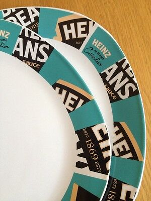 Heinz Baked Beans Plates x2 Rare Collectors Items