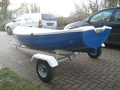 NEW 10ft Boat and Trailer    Rowing Boat     Clinker Fishing Boat       Outboard