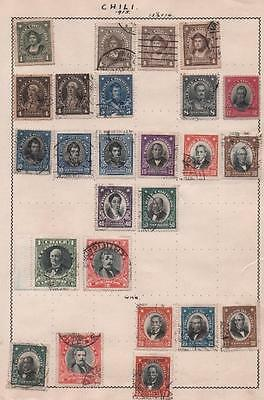 CHILE: Used Examples - Ex-Old Time Collection - Album Page (5248)