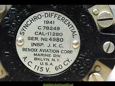 Bendix Aviation Corp.synchro Differential Transmitter-1942!!bklyn N.y-Wwii Relic