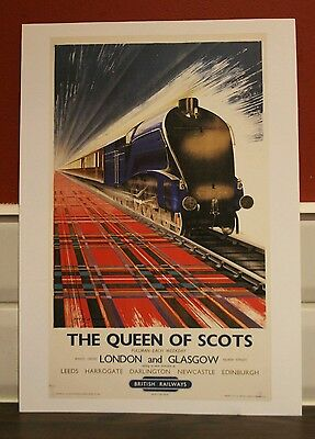 Vintage railway poster The Queen of Scots (A4 size)