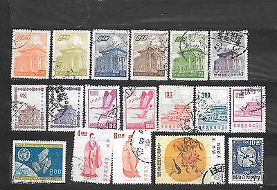 CINA FORMOSA   -  18 STAMPS lot lotto