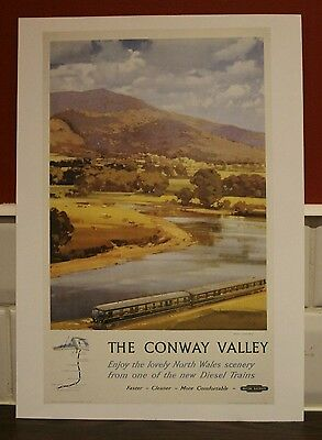 Vintage railway poster Conway valley (A4 size)