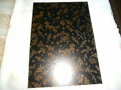 1 A4 sheets printed  cardstock- Gold on black - blossom designs-New