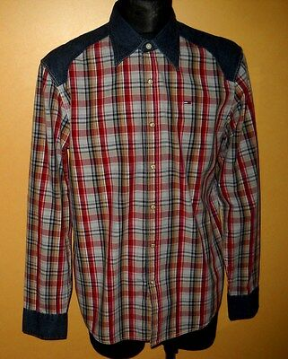 Men's * Tommy Hilfiger * Long Sleeve  * Multi Check * Size- L/m * Casual Shirt